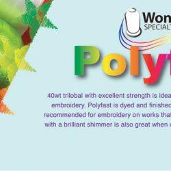 WonderFil PolyFast Embroidery Thread