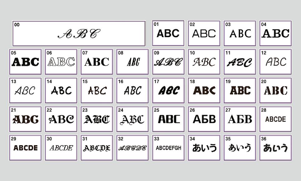 brother pr670e fonts